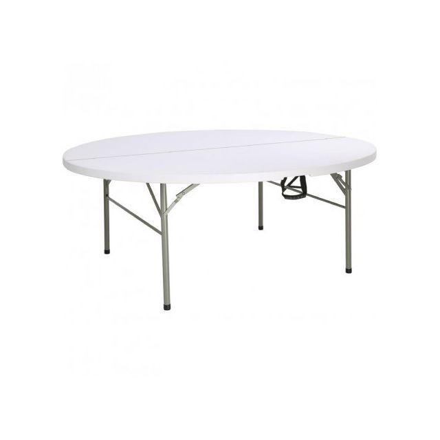 Materiel Chr Pro Table pliante ronde 1,8 m - Bolero - Blanc