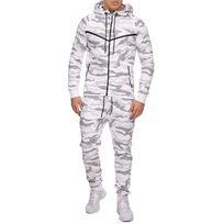 Violento - Ensemble camouflage jogging blanc