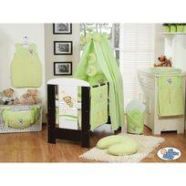 Autre - Lit et Parure de lit bébé bonne nuit vert ciel de lit coton 120 60