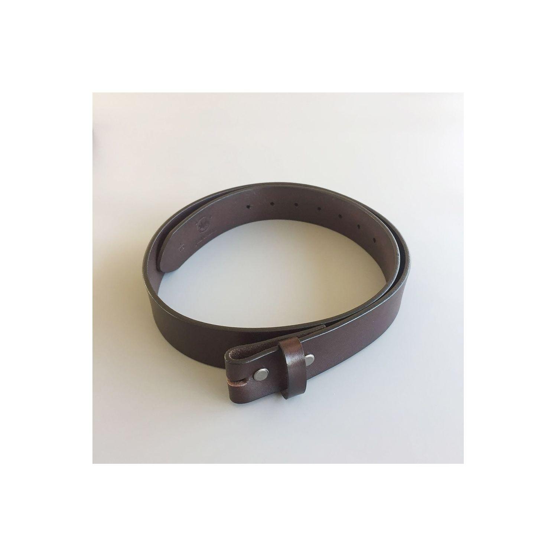 UNIVERSEL- M 105cm ceinture en cuir véritable brun homme femme pleine fleur  - Multicolore a55f80382ab
