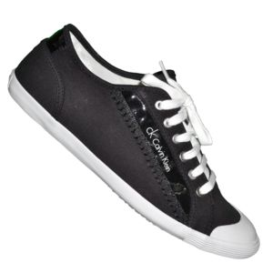 Calvin Klein Fashion Mode Sneakers Gris Blanc