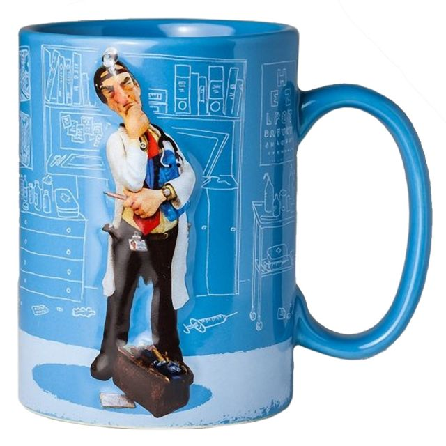 Out Of The Blue Grande Tasse de Collection Guillermo Forchino - Le Médecin