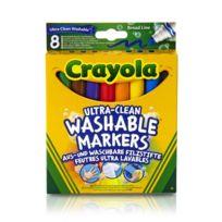 Crayola - 8 feutres à colorier ultra-lavables