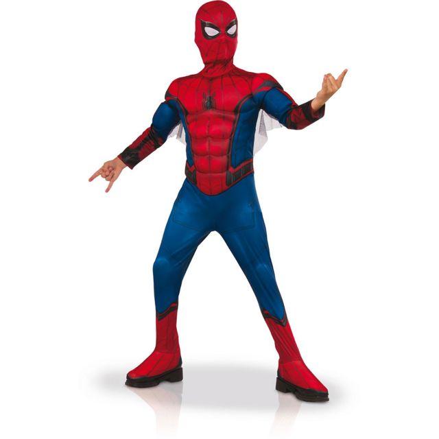 RUBIES - Déguisement Luxe Spider-Man Homecoming - Enfant7 9 ans 120 à 132  cm 7-8 ans - pas cher Achat   Vente Déguisement adulte - RueDuCommerce 1069e12a7951