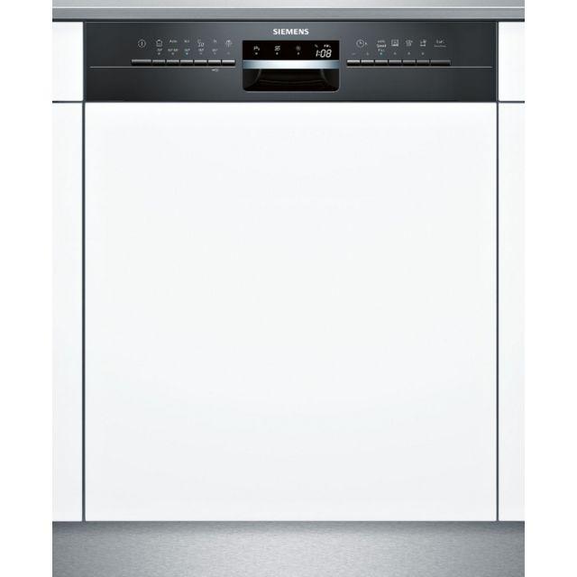 SIEMENS lave-vaisselle 60cm 14c 44db a++ intégrable avec bandeau noir - sn536b03ne