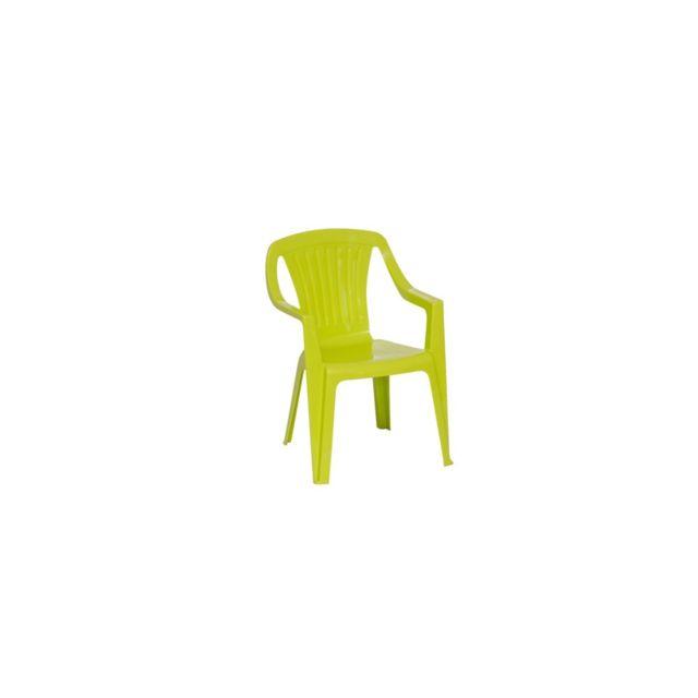 Chaise Tonga L. 37 x l. 36 x H. 53 cm vert anis. Dimensions : L. 37 x l. 36 x H. 53 cm. Structure en résine Pvc. Coloris