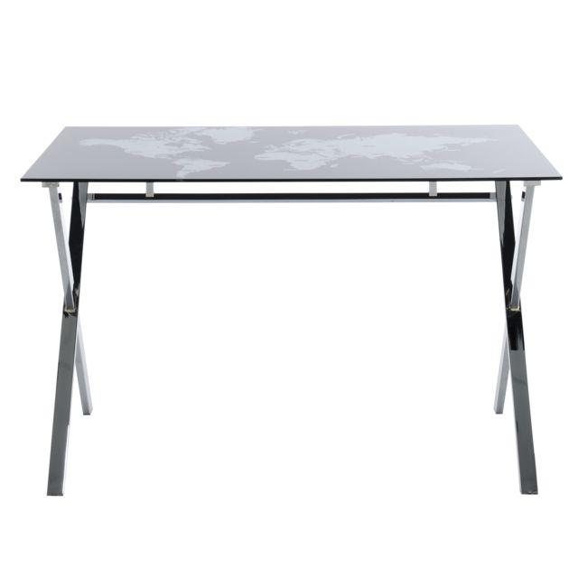 kit a faire bureau plateau verre trempe imprimer design. Black Bedroom Furniture Sets. Home Design Ideas