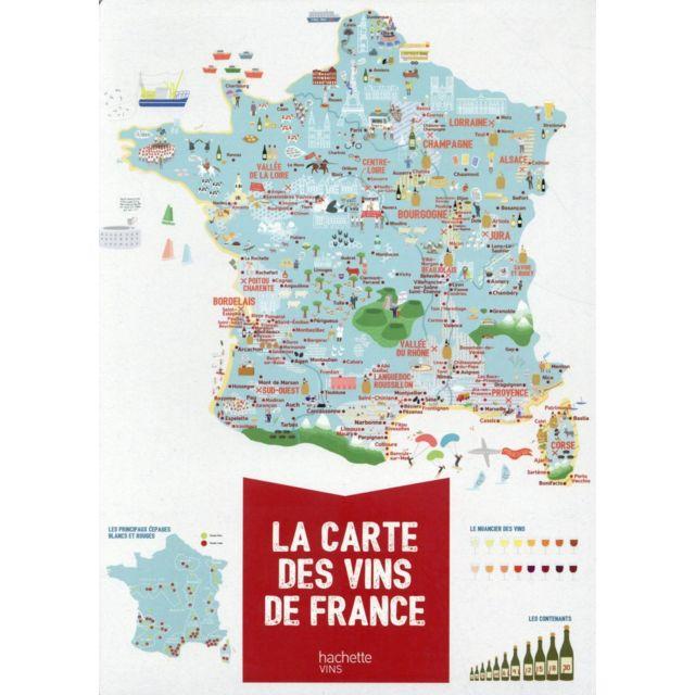 Hachette Pratique - la carte des vins de France ; poster Xxl