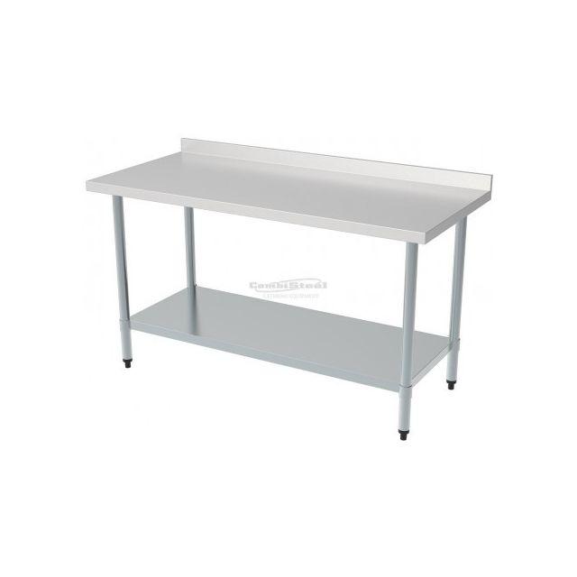 Combisteel Table Inox Pro Avec Dosseret - Gamme 700 inox 700x700 700