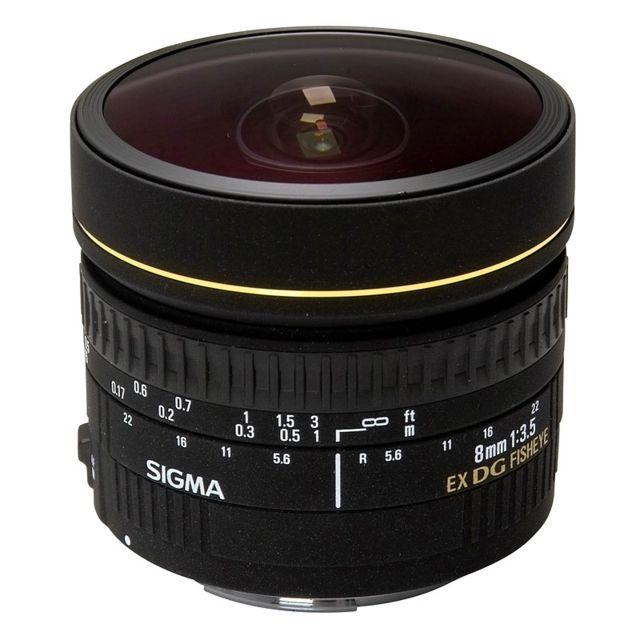 Sigma Objectif 8 mm f/3.5 FishEye Dg Ex Canon Garanti 3 ans