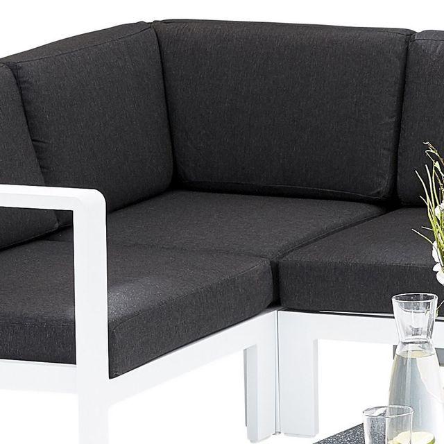 Wilsa - Chaise d\'angle Orlando - Blanc en aluminium pour salon d ...