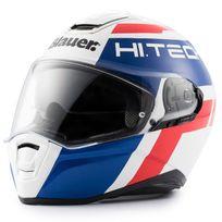 Blauer - casque intégral Fibre moto scooter Force One 800 blanc bleu rouge brillant 2XL
