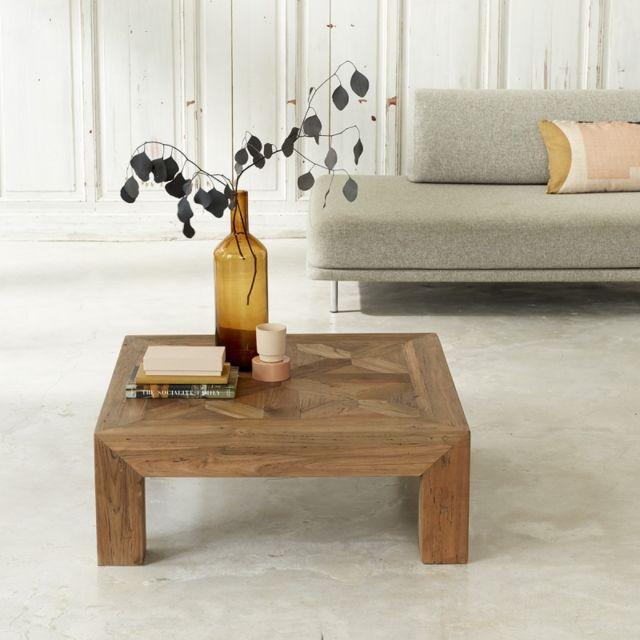 Bois Dessus Bois Dessous Table basse en bois de teck recyclé 100