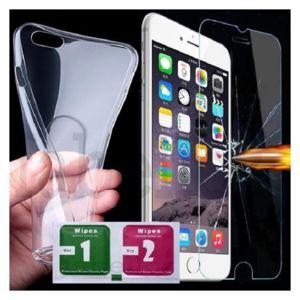 coque et verre trempe iphone 8