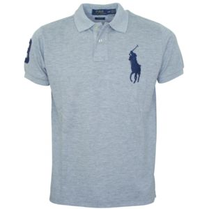 Ralph Lauren - polo custom fit gris big pony