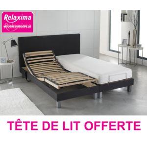 relaxima pack ensemble relaxation avec tete de lit deco offerte matelas mousse m moire. Black Bedroom Furniture Sets. Home Design Ideas