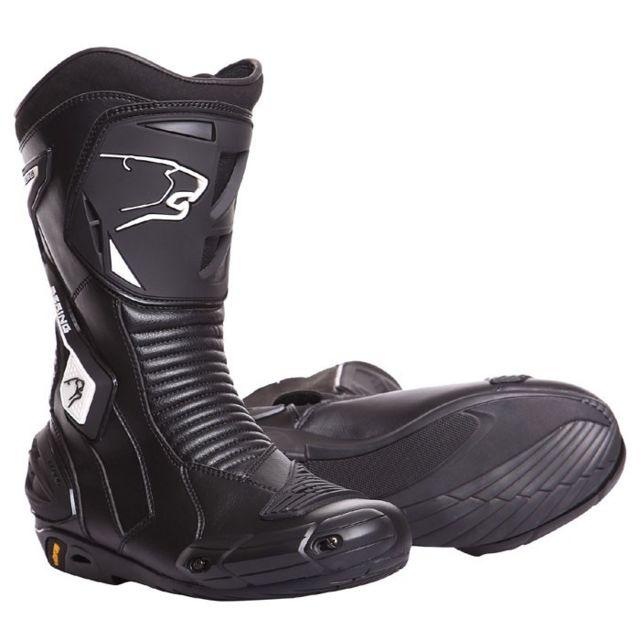 bottes moto cuir SPORT GT route X RACE R noir BBO110