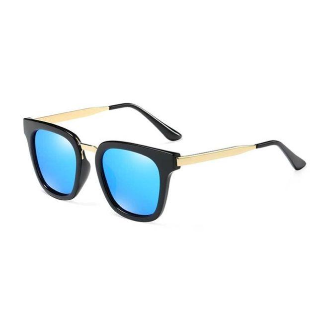 Wewoo - Lunettes de soleil noir et bleu Lunettes de polarisées hommes Fashion  Uv400 + a829a9681ff2