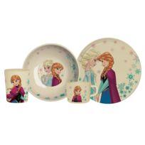 Reine des neiges - Vaisselle enfant en fibre de bambou - Set de 4 pièces Disney