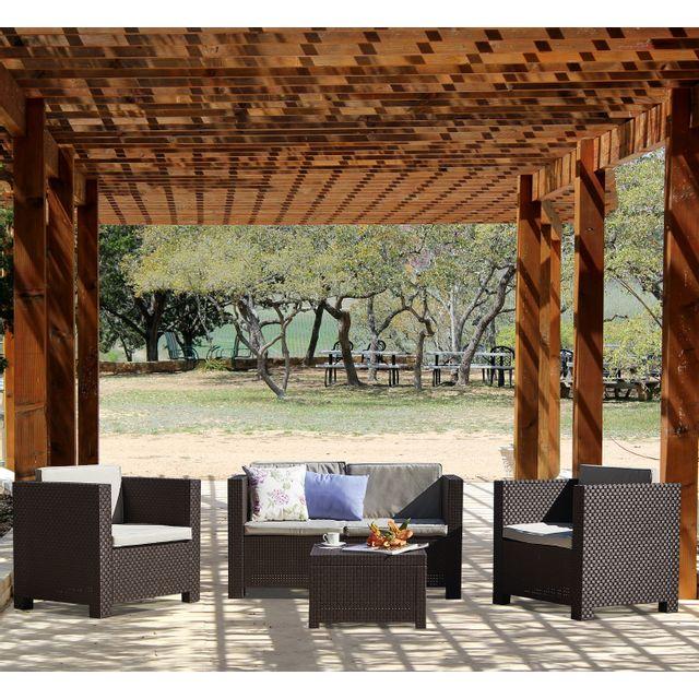 Design et Prix - Magnifique Ankara : Salon de jardin 4 places effet ...