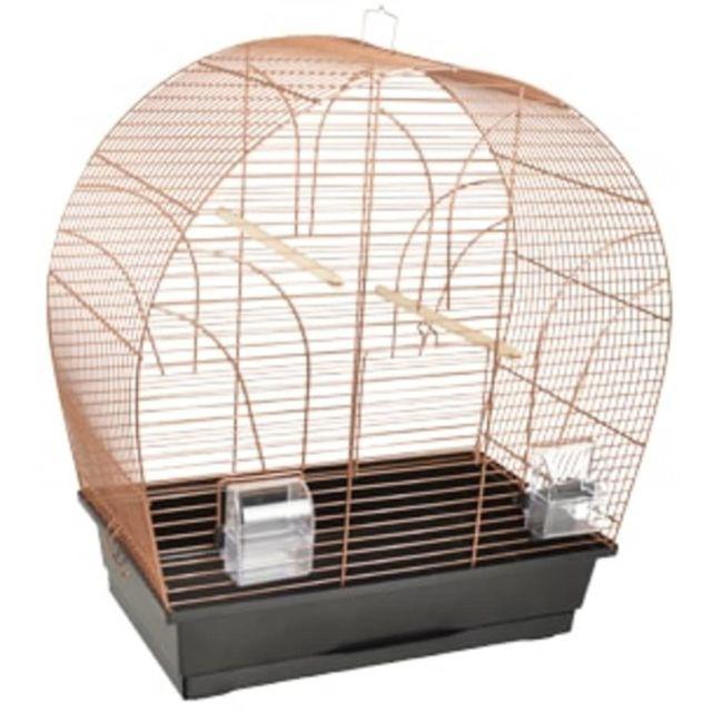 Flamingo Cage à oiseaux Saga Cuivre 51x28x55 cm