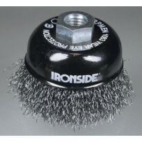 Ironside - 243009 Brosse À Poncer Fil TorsadÉ 75 Mm M14 0,3 Mm Pour Meuleuse D'ANGLE