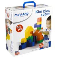 Miniland - briques geantes ultra souples - lot de 40