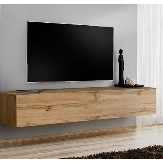 Design Ameublement Meuble Tv modèle Berit 120x30 couleur chêne