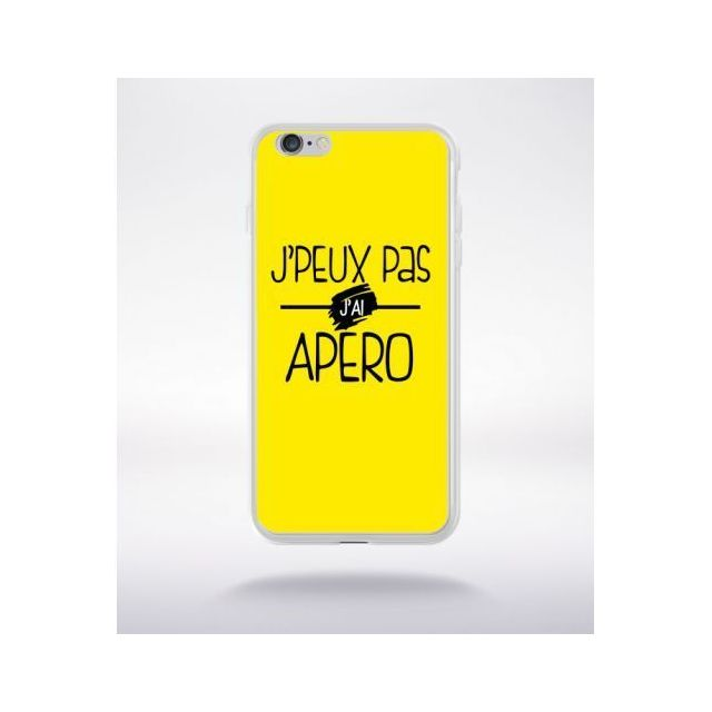 coque iphone 6 plus apple jaune