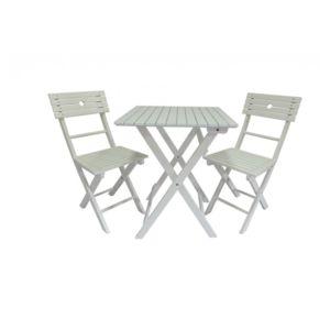 Envie De Meubles - Salon de jardin Tennis 4 chaises blanc ou bleu ...