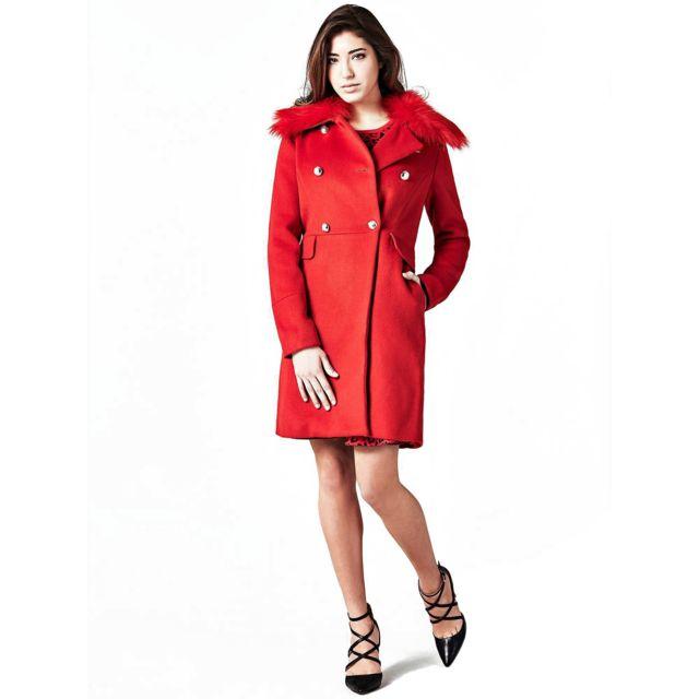 nouveau concept 83849 9684a Manteau Femme Flore Rouge - Taille - M