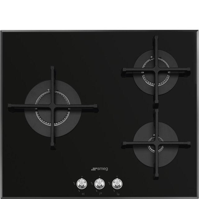 plus récent 65fec eeec5 table de cuisson gaz 60cm 3 feux noir - pv163n2