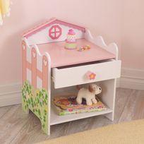 Kidkraft - Chevet enfant en bois 1 tiroir 1 niche Maison de poupée Flowers