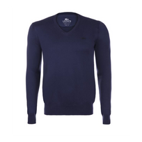 Lacoste - Pull Bleu Marine Col V Ah7894 Taille M