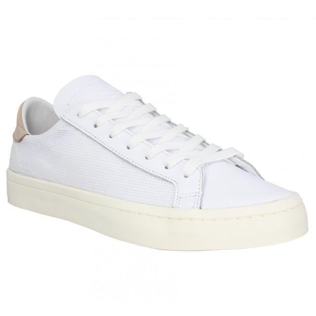 Adidas Court Vantage toile Homme 44 Blanc pas cher Achat