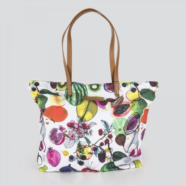 9f70d19ced Christian Lacroix - Grand cabas motifs fruit femme - pas cher Achat / Vente  Sacs à main - RueDuCommerce