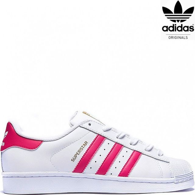 Adidas originals Superstar femme B23644 Blanc Rose pas