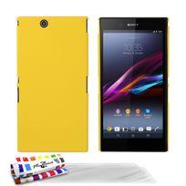 """Muzzano - Coque Rigide Ultra-Slim Le """"Pearls"""" Premium Jaune pour Sony Xperia Z Ultra + 3 Films de protection ?cran"""