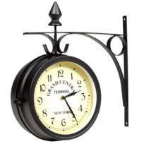 Vida - Horloge de gare retro double face New York