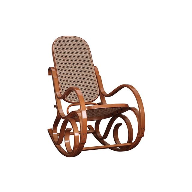 Rocking chair en bois massif coloris miel