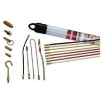 Super Rod - Srav Kit Tiges De Guidage Kit D'INSTALLATION Avec CÂBLE 8M Et 10 Attaches