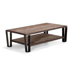 Alin a ware table basse en pin et acier pas cher achat - Table en pin pas cher ...