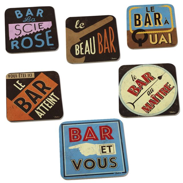 Natives Set de 6 sous-verres Bar