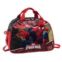No Name - Marvel Sac de Voyage Spiderman - 1 Compartiment - 40cm - Noir - Enfant Garçon
