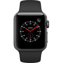 Watch 3 Cellular 38 - Alu noir / Bracelet Sport noir
