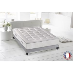 lovea ensemble matelas sommier ressort 7 zones h30cm palacio blanc pas cher achat vente. Black Bedroom Furniture Sets. Home Design Ideas