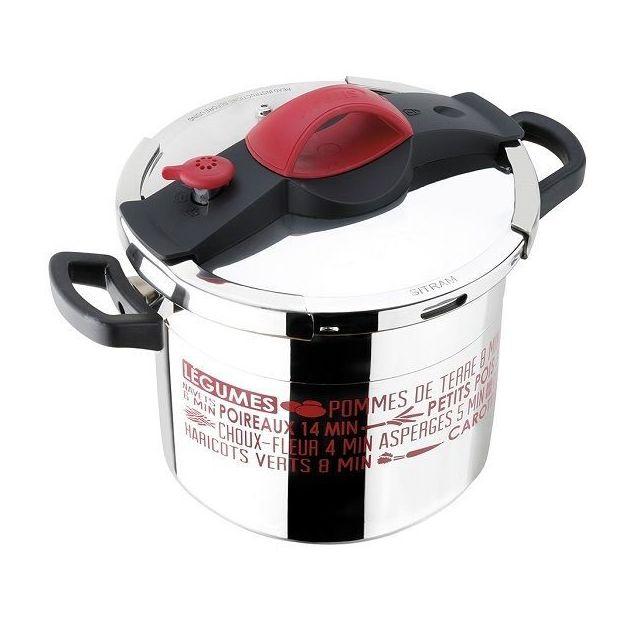 SITRAM Autocuiseur Sitrapro - Inox et rouge - 10 L