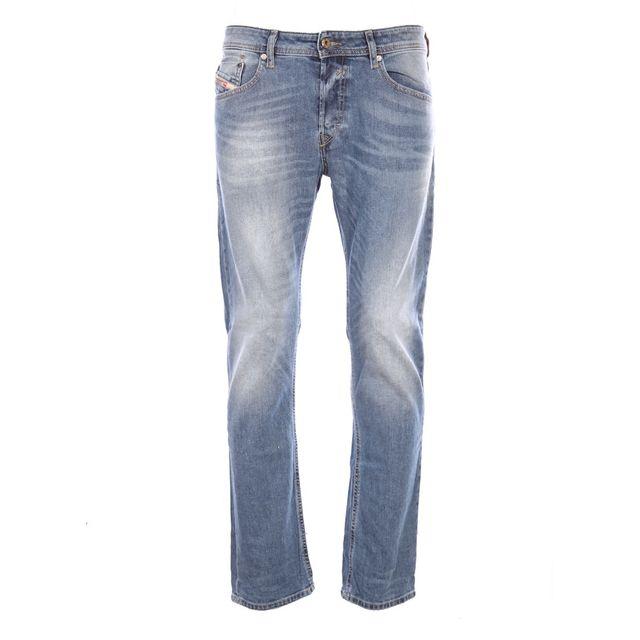 diesel homme jeans coupe droite waykee 0842h bleu. Black Bedroom Furniture Sets. Home Design Ideas