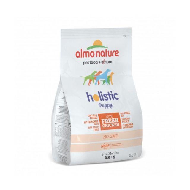 Almo Nature Croquettes Holistic pour chiot petite race Poulet et riz Sac 2 kg DLUO 3 mois
