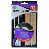 Daler Rowney - Simply Set de 13 Pieces Crayons Dessin Boite Métal